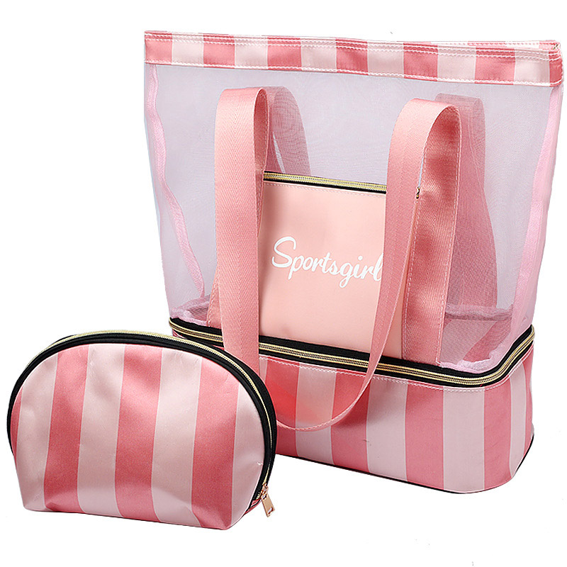Female Tote Handbags Women Summer Beach Bag Designer Travel Luggage Shoulder Bags Wet Dry Separation Handbag Sac a main-in Shoulder Bags from Luggage & Bags