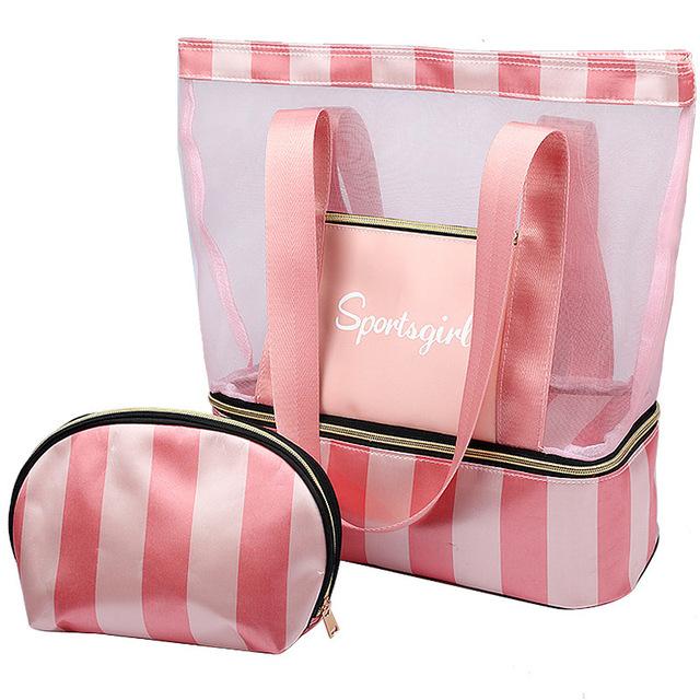 Female Tote Handbags Women Summer Beach Bag Designer Travel Luggage Shoulder Bags Wet Dry Separation Handbag Sac a main