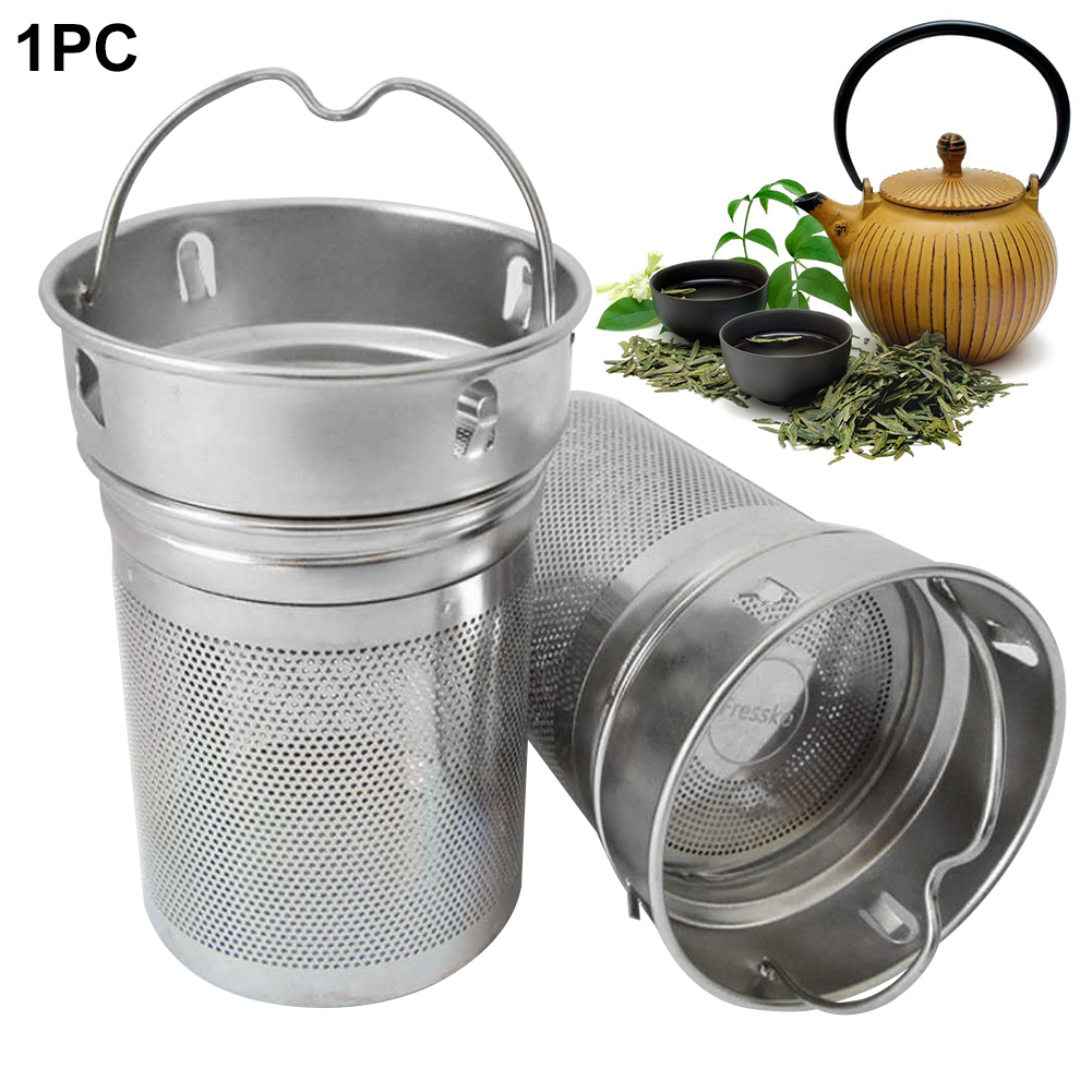 Non-rust Drinking Tea Infusers Portable Office Tea Strainer Stainless Steel Laser Hole Spice Cup Hiking Two Mesh Home Bottle
