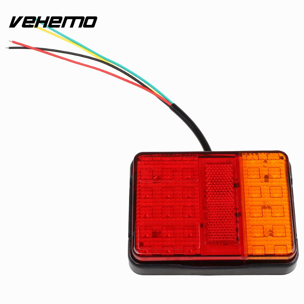Vehemo 30 LED Trailer Stop Rear Tail Light Indicator Lamp Caravan Lorry Car W/Bracket 30 led trailer truck stop rear tail light indicator lamp caravan lorry car boat van w bracket