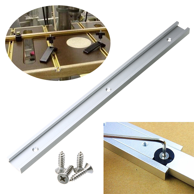 Aluminum Alloy Silver Miter Tool Bar Hardware Beveled Track Practical Durable Portable T Tracks Pusher