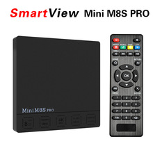 Mini M8S PRO 4 K Inteligentne Set top Box 2 GB 16 GB Android 7.1 TV Box Amlogic S912 Octa Rdzeń 2.4G/5G Podwójny Wifi H.265 HDR10 Mediów odtwarzacz