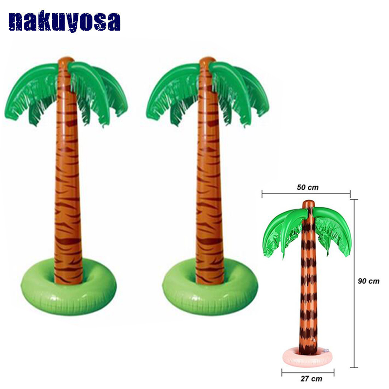 90CM Inflatable Coconut Palm Tree Inflated Toy Children Toys For Sandbeach Party Birthday Decorations Supplies Hawaii Series
