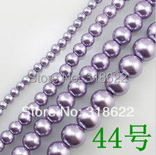 Free shipping wholesale Color 44 4MM-16MM Loose imitation Glass Pearl Beads
