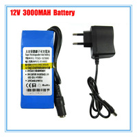 12V battery 12300 Rechargeable Lithium Battery for CCTV Camera with 3000mAh Capacity 10PCS/LOT Free shipping