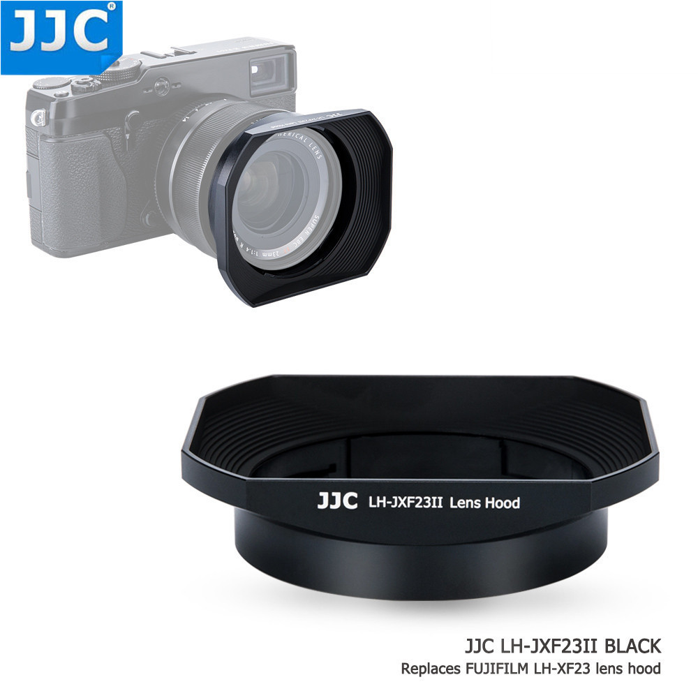 цена на JJC Square Camera Lens Hood 62mm Thread Size for FUJINON LENS XF 23mm F1.4 R/XF 56mm F1.2 R/XF 56mm F1.2 R APD Replaces LH-XF23