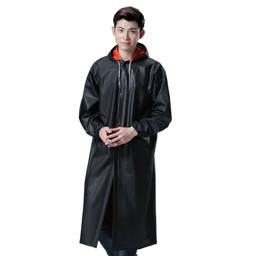 Professional Outdoor Impermeable Long Style Double layer Raincoat Adults Waterproof Trench Coat Poncho Coat Rainwear Rain Gear