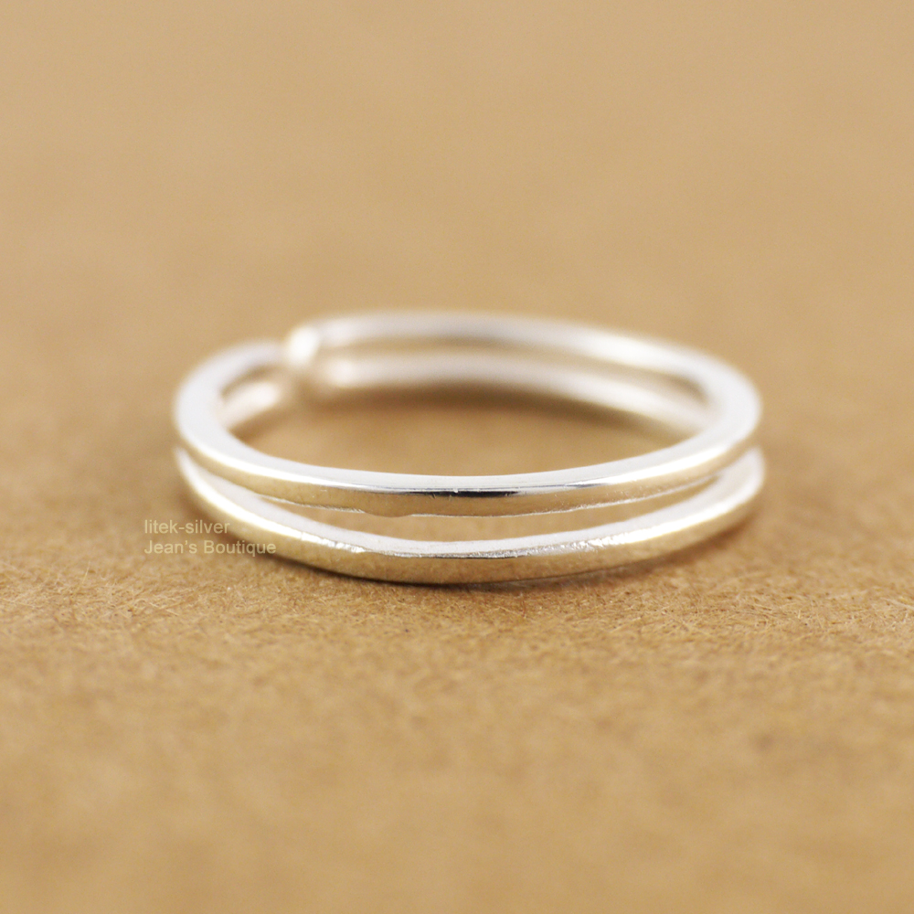 925 FINE STERLING SILVER WAVY RING BAND SIZES IN LISTING NEW FREE SHIP IN U.S.