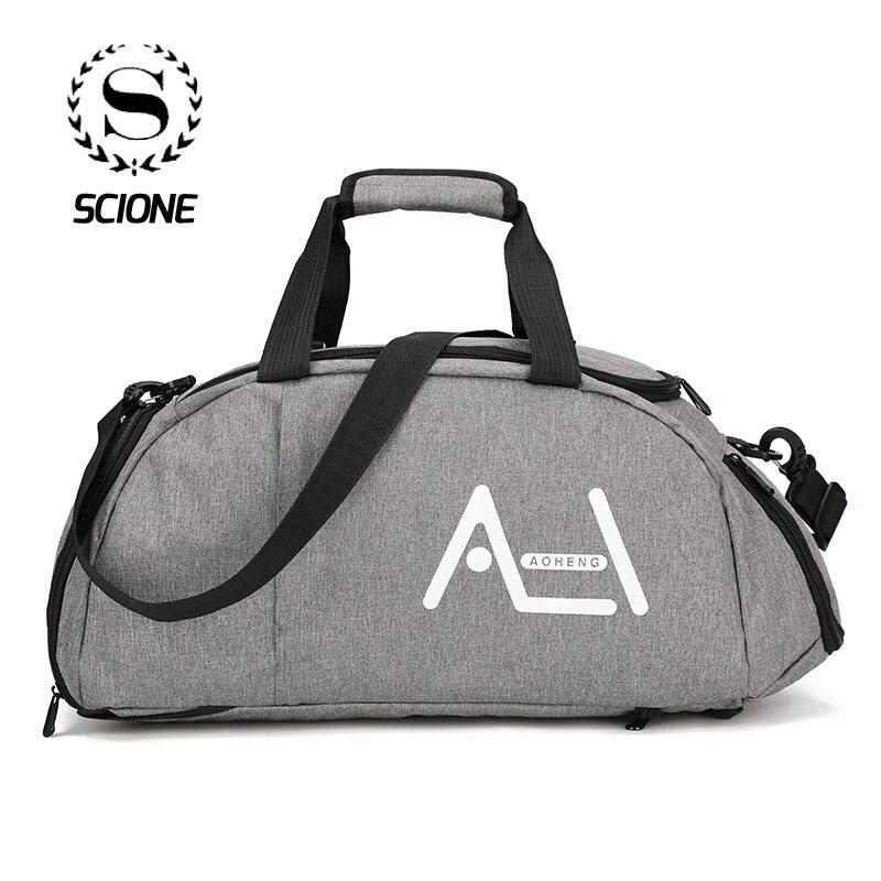 Scione gran multifunción viaje deportivo bolso de las mujeres de los hombres de alta calidad bolsas de equipaje maleta al aire libre mochila