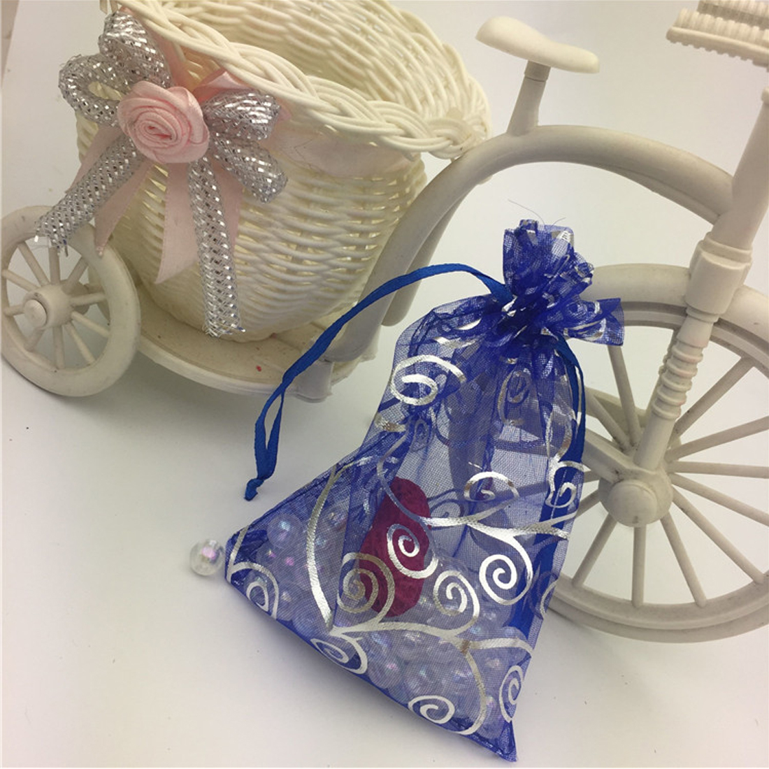 Cool 100 pcs wedding of the Christmas bags for gift bag Organza bags packing party event decoration of the wedding supplies