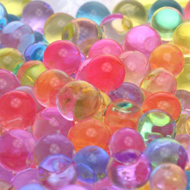 1000PCS/Set Pearl Shaped Crystal Soil Water Beads Mud Grow Magic Jelly Balls Home Decor Aqua Soil Hot Wholesales