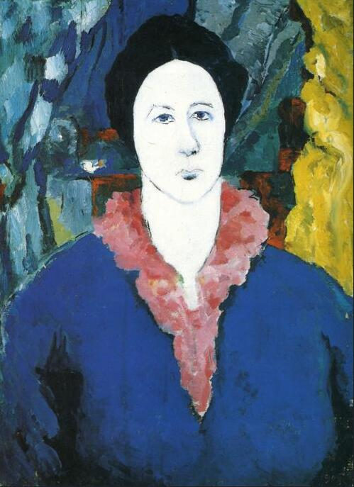 High quality Oil painting Canvas Reproductions Blue Portrait (1930) By Kazimir Malevich hand paintedHigh quality Oil painting Canvas Reproductions Blue Portrait (1930) By Kazimir Malevich hand painted