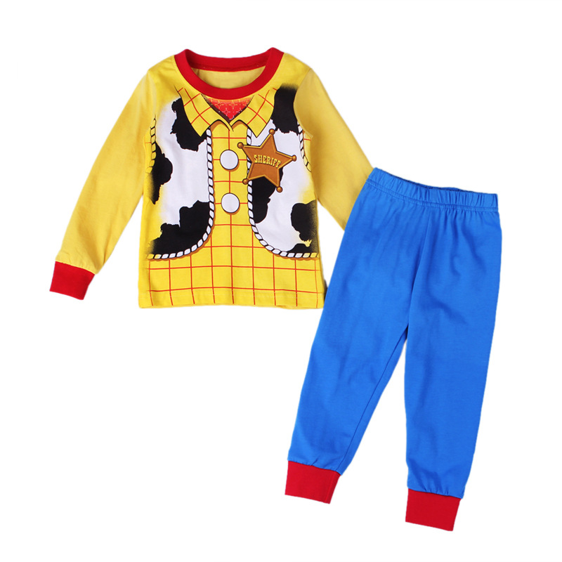 Nature cotton Toy Story Children Loungewear Woody Boy Homewear Kid's Woody Costume any size Cartoon T shirt free shipping