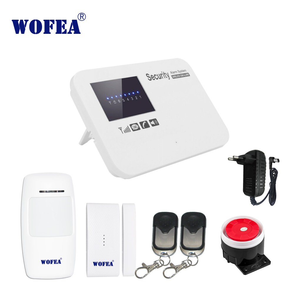 WOFEA IOS & android APP control security GSM alarm system  relay control for home burglar alarm zone fire alarm