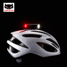 CATEYE Cycling Headlight Duplex Bicycle Front Rear Warning Lights LED Bike Helmet Battery Safety Flashlight Torch 30LM /15LM