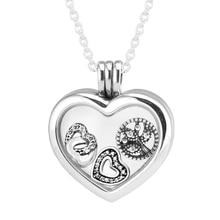 СКК 925 Серебряные Подвески для Женщин DIY Создание Сердце Плавающей Медальон Кулон с Миниатюрной Подвески DIY Ювелирных