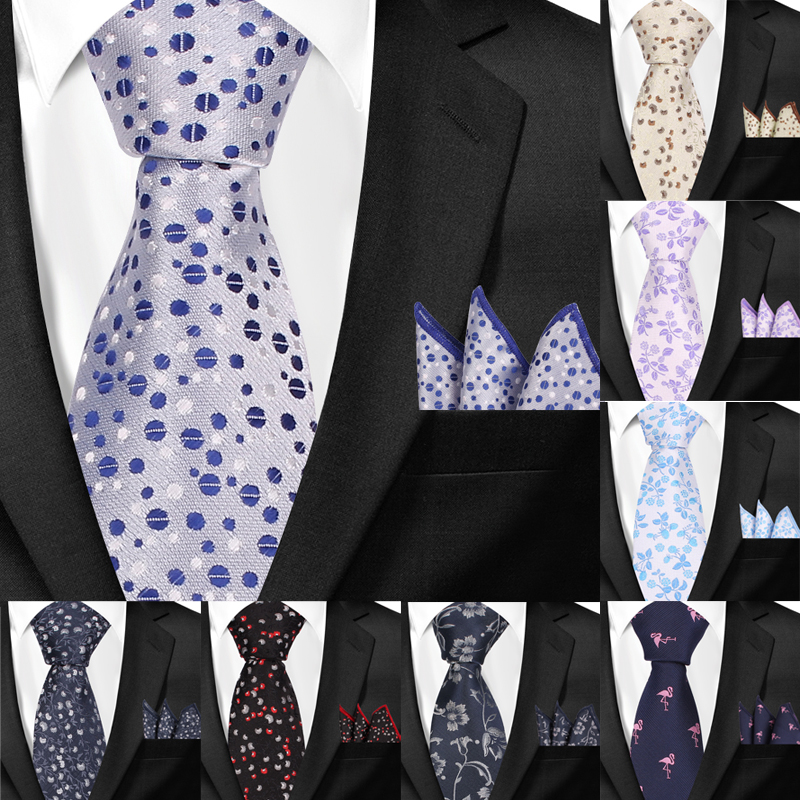 Men Necktie Tie Classic Dots Men Ties Brand Fashions Mens Jacquard Woven Ties For Men Casual Floral Neck Tie Gravatas Corbatas
