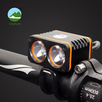 Onature mtb light led front USB rechargeable Battery powerful bicycle front lampe 1500 lumens mountain bike light