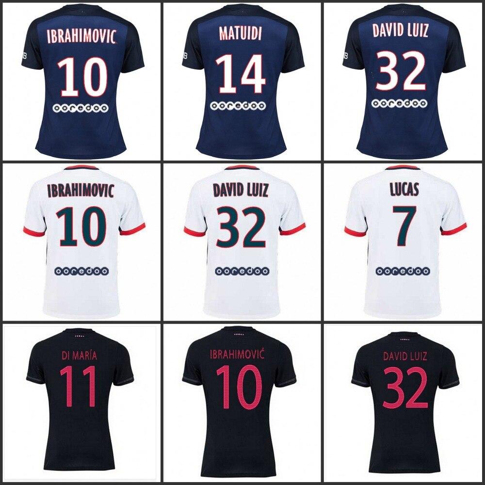 brand new 10181 04deb maillot psg 2015 2016 Maillot de MAN 15/16 zlatan ...