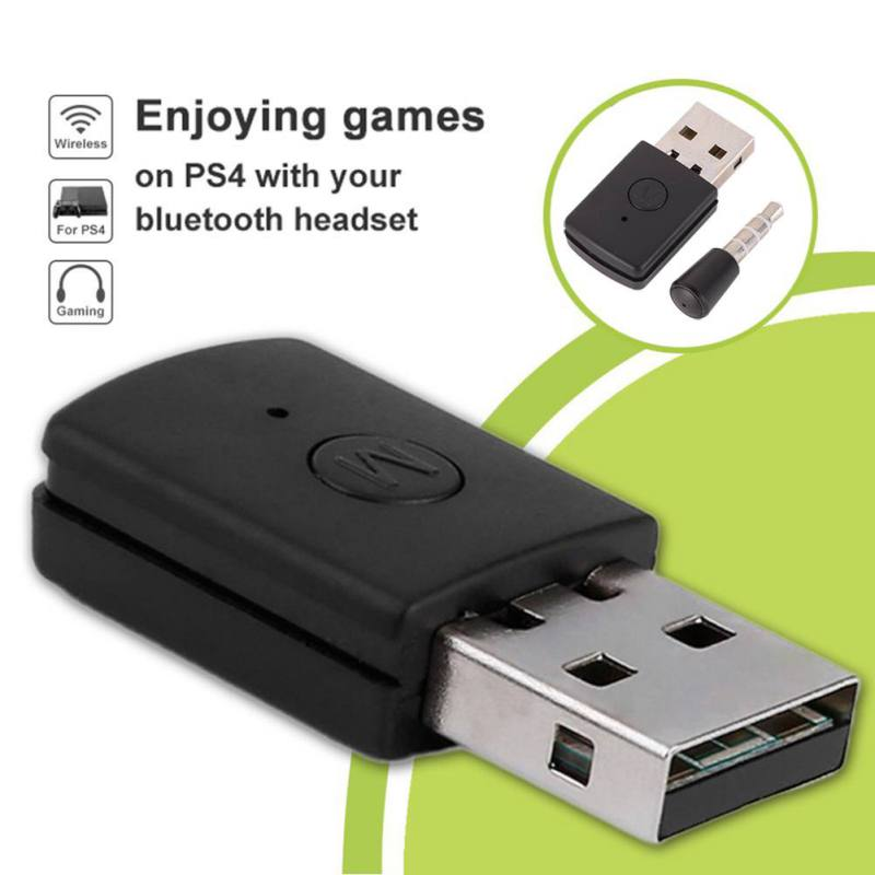 Bluetooth 4.0 + EDR USB Bluetooth Dongle USB Adapter for PS4 Stable Performance for Bluetooth Headsets 3.5mm Headphone Adapter
