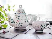 Cerámica pintada a mano taza de café plato tarde té perfumado té tetera cumpleaños Navidad regalo libre