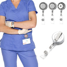 10pcs/lot Doctor Nurse Snap Button Badge Reel ID holder retractable badge holder interchangeable snap on jewelry fit 18mm snaps