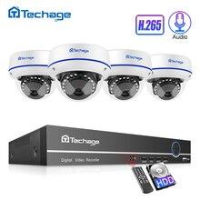 H.265 CCTV セキュリティシステム 8CH 1080 1080P POE NVR キット 2.0MP 屋外屋内ドームオーディオサウンド IP カメラ P2P ビデオ監視セット