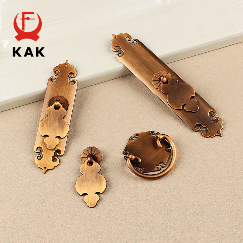 KAK European Style Zinc Alloy Cabinet Handles Antique Kitchen Cupboard Wardrobe Door Pulls Drawer Knobs Furniture Hardware