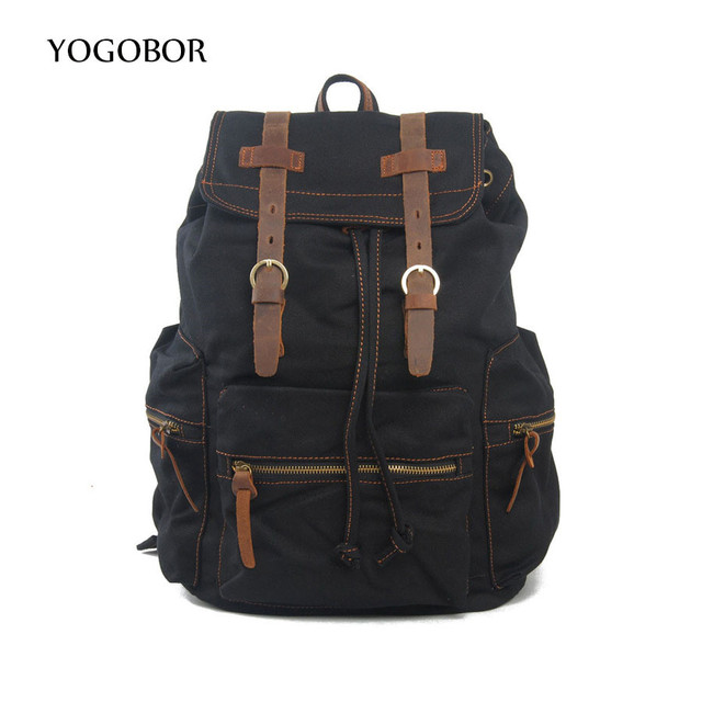 01349292a33b US $83.0 |YOGOBOR Men and Women Unisex Military Backpack Canvas Bag  Trekking Rucksacks 35L Backpacks Men Backpacks Men Bags Fashion-in  Backpacks from ...