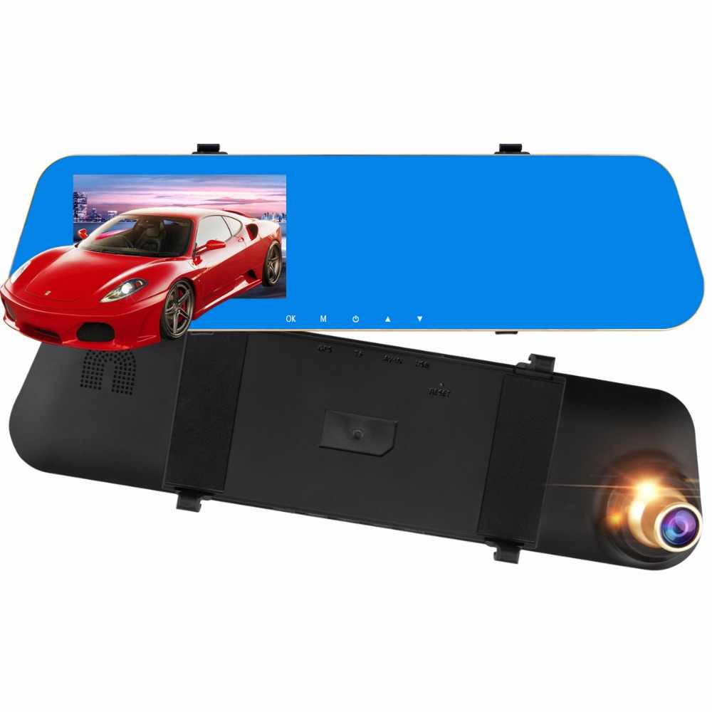 "Auto DVR single Lens Video 4.3 ""1080 P Recorder Parking Camera Dash Cam Full HD 1080 P Auto black DVR camera Bewegingsdetectie"