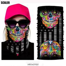 High Elastic 3D Seamless Bandana Skull Cycling Women Headwear Joker V Vendetta Face Mask Ski Hiking Magic Bandana Buff Balaclava(China)