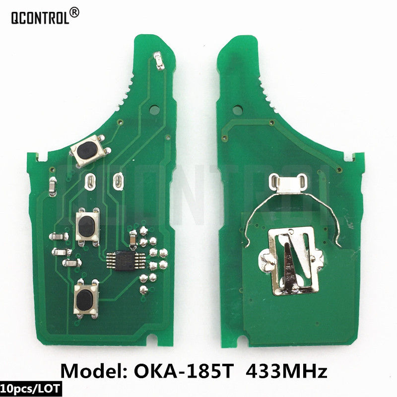 QCONTROL Car Remote Control Key Circuit Board for KIA OKA-185T Vehicle Alarm 433MHz 433-EU-TP CE <font><b>0682</b></font> Keyless Entry image