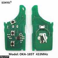 QCONTROL Car Remote Control Key Circuit Board for KIA OKA 185T Vehicle Alarm 433MHz 433 EU TP CE 0682 Keyless Entry