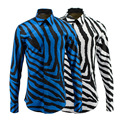 Новое Прибытие мужская 3D Печати Рубашка Зебра линии Моды Шаблон дизайн С Длинным Рукавом Slim Fit Мужчины Повседневная Рубашка fashionabl Платье рубашка