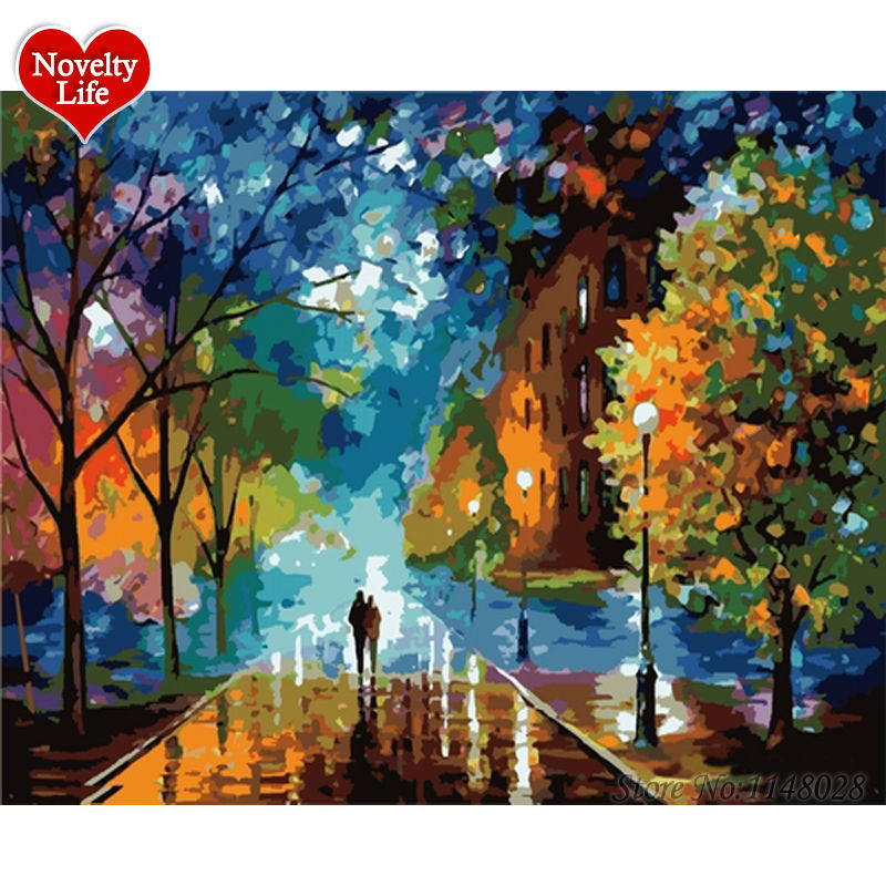 Frame Painting by Numbers Triumph Diy Wall Picture Oil Painting on Canvas for Home Decor Abstract Paint Rain Triumphal Arch B22