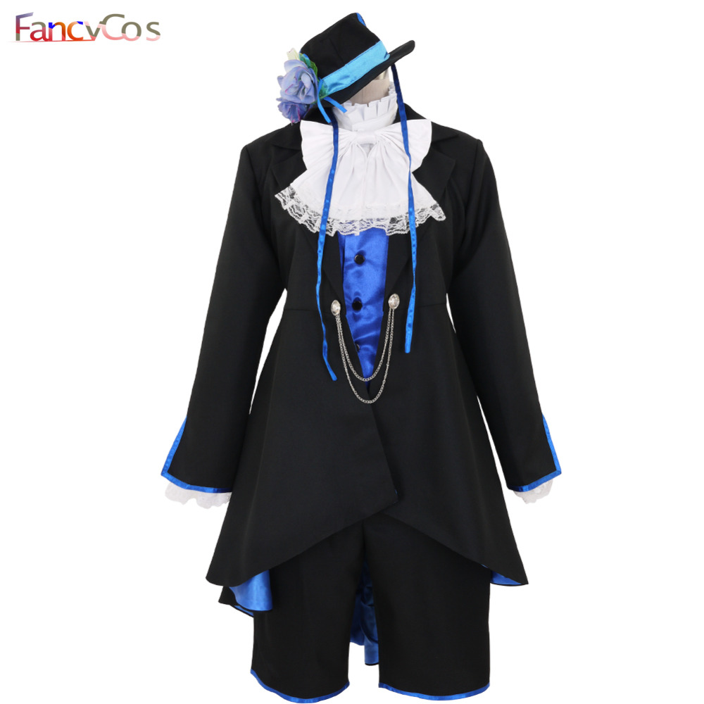 Halloween Black Butler Ciel Phantomhive Anime Version Cosplay Costume Game Adult Costume Movie High Quality Deluxe Custom Made