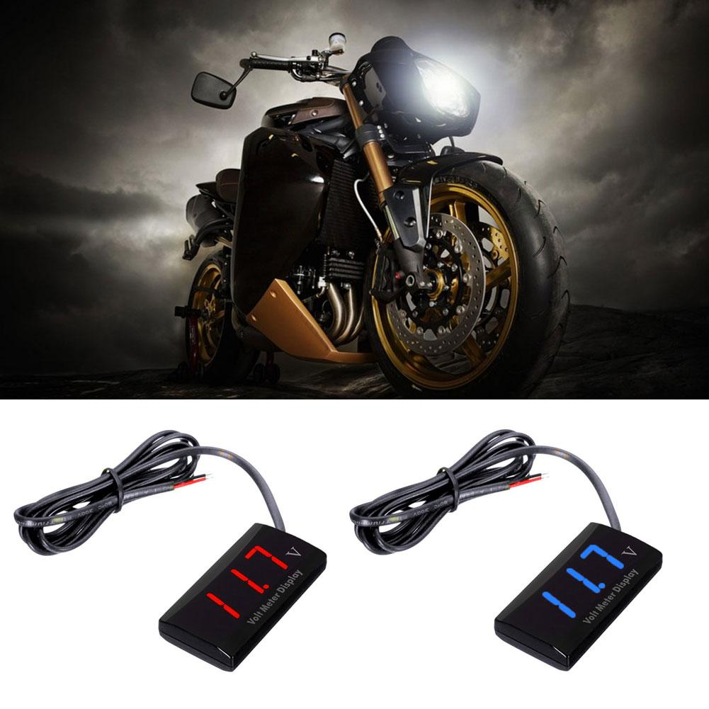 Universal Digital Voltmeter Car Motorcycle Tester Voltage Panel Meter Motorbike voltage indicator voltmeter car