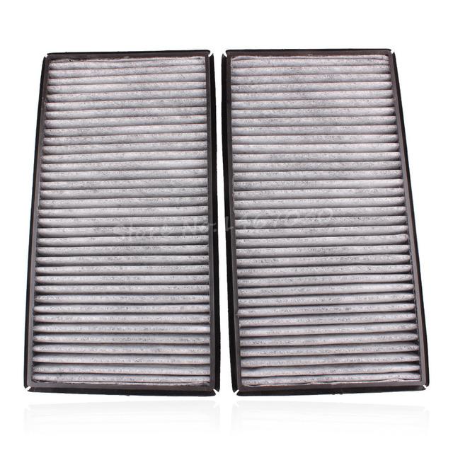 2X Cabina de Carbón de Carbono Filtro de Aire Para BMW 7 Series E65 E66 745i 760i 745Li 750Li 760Li 2002-2008 64116921019 Nuevo