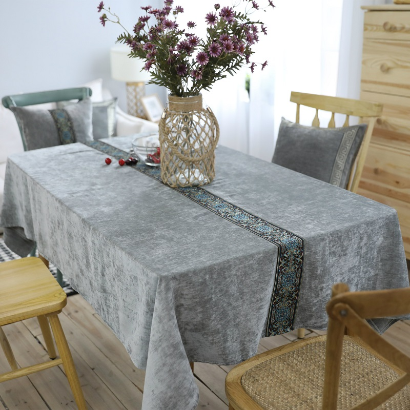 Traditional Chinese Tablecloth Solid Polyester Printed Rectangular tablecloth Home Hotel ...