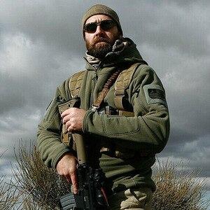 Image 1 - Ons Militaire Fleece Tactische Jas Mannen Thermische Buiten Polartec Warm Hooded Jas Militar Softshell Hike Bovenkleding Leger Jassen