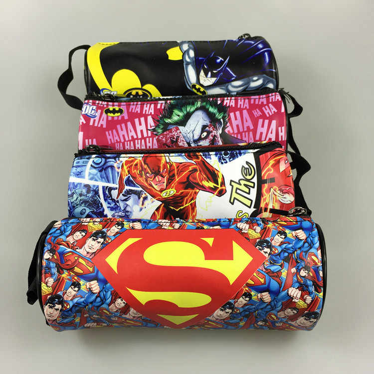 Superhero Pen Purse Batman Superman Flash Captain Wonder Woman Joker Men Kids Pencil Box Case Anime Leather Stationery Wallets