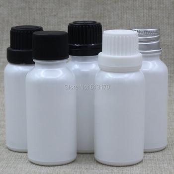 10ml 1/3OZ White Glass Bottles with Black,White Big Cap Tamper proof Lids Essential Oil Dropper Vials Empty Glass Bottles