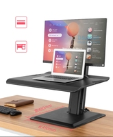 NB ST15 190cm Ergonomic Computer Sit Stand Workstation 22 32 inch Monitor Mount Bracket with Keyboard Plate Laptop Desk Stand