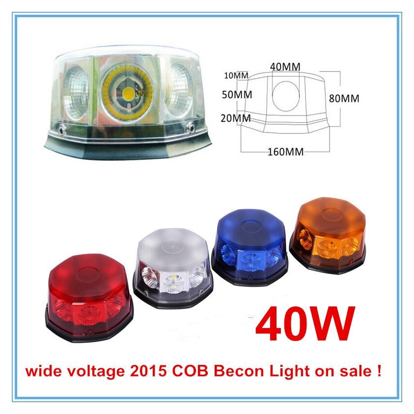 Hazard emergency Warning Rotating COB LED Beacon font b light b font New 2016 40W High
