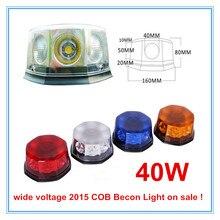 Peligro de emergencia Advertencia Giratoria COB LLEVÓ LA luz del Faro Nuevo 2016 40 W de Alta Potencia de base Magnética