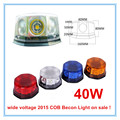 Hazard emergency Warning Rotating COB LED  Beacon light New 2016 40W High Power Magnetic base