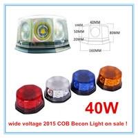 New 2015 12V 24V 40W High Power Magnetic Base Amber Yellow Hazard Emergency Warning Rotating COB