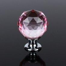 10pcs 30mm Diamond Shape Design Crystal Glass Door Knobs Cupboard Drawer Pull Kitchen Cabinet Wardrobe Handles Hardware Decor цены