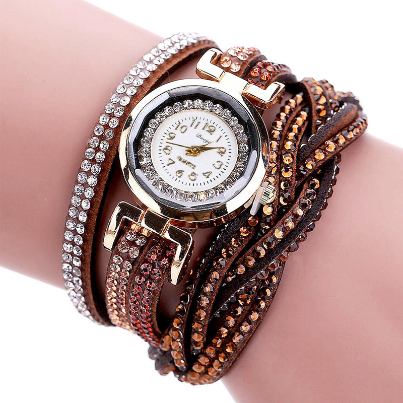 TIke Toker, Mode Luxe Strass Armband Dameshorloge, Dames Quartz - Herenhorloges - Foto 2