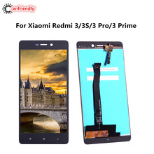 Купить Для Xiaomi Redmi 3 S ЖК-дисплей Дисплей + Сенсорный экран Digitizer Замена тяга для Xiaomi Redmi 3 s 3 s Mobile телефон заменить ЖК-дисплей